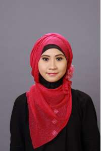 Pashmina Glitter Gold Red