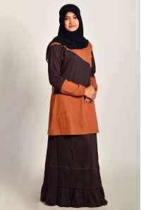 Setelan Kaos Muslimah U100 Brown
